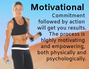 Motivational - Barbara with weights discussing commitment