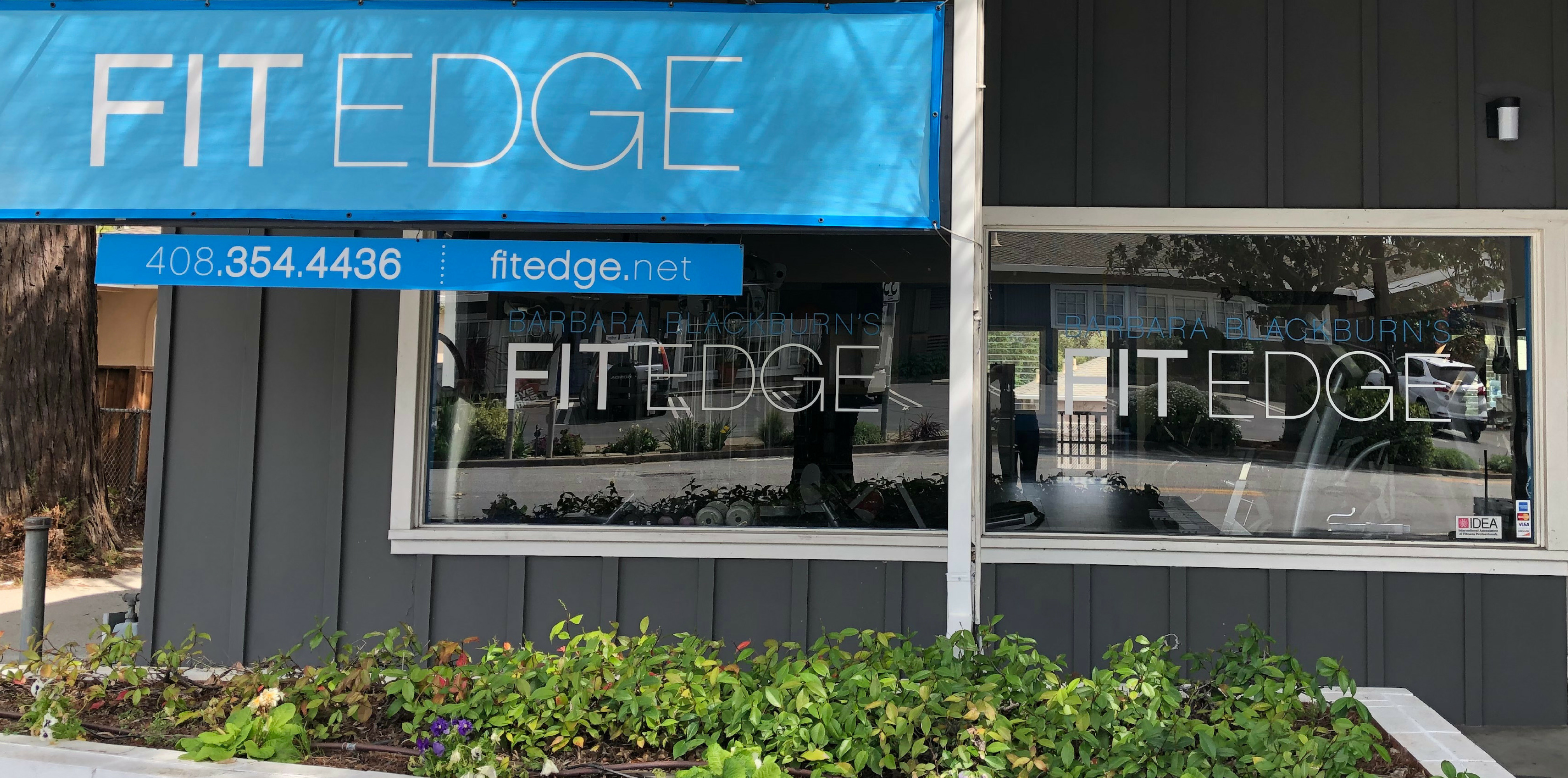 Storefront image of Barbara Blackburn's Fit Edge studio in Los Gatos, CA